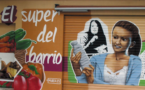 "Mural decorativo para supermercado ""Villa de Madrid"""
