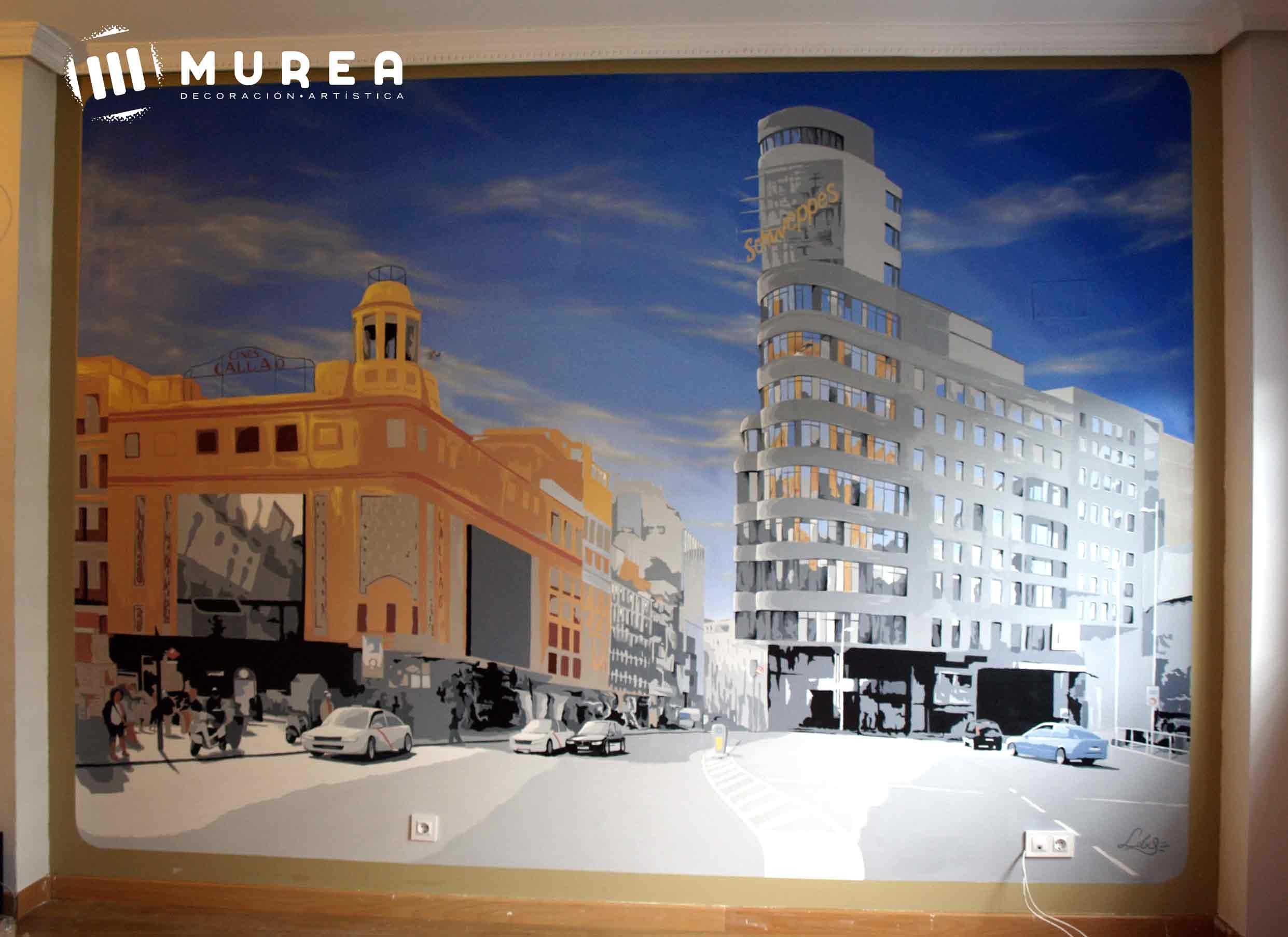 "Como se hizo: mural ""plaza Callao"""