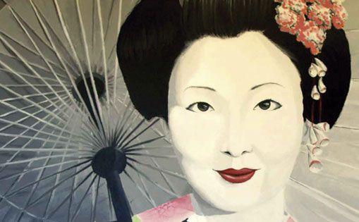 """Detalle cuadro """"Geisha"""""""