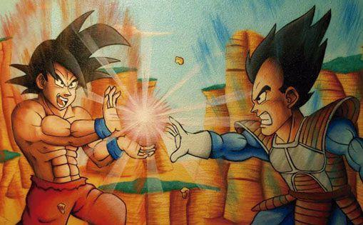 "Mural infantil para particular ""Goku"" Madrid 2010."