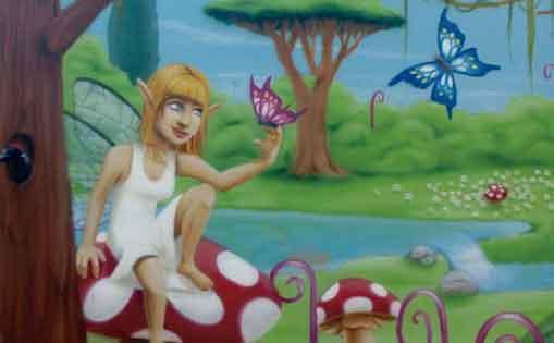 """Mural para particular """"Bosque de hadas"""""""