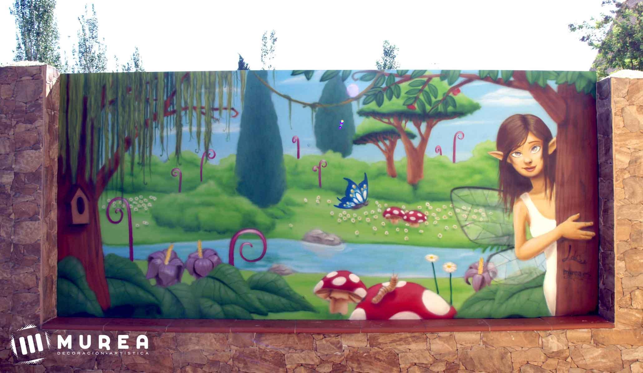 Murales infantiles de bosques imagui for Murales infantiles
