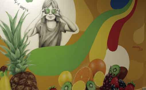 """Mural decorativo para asociación """"5 al dia"""""""