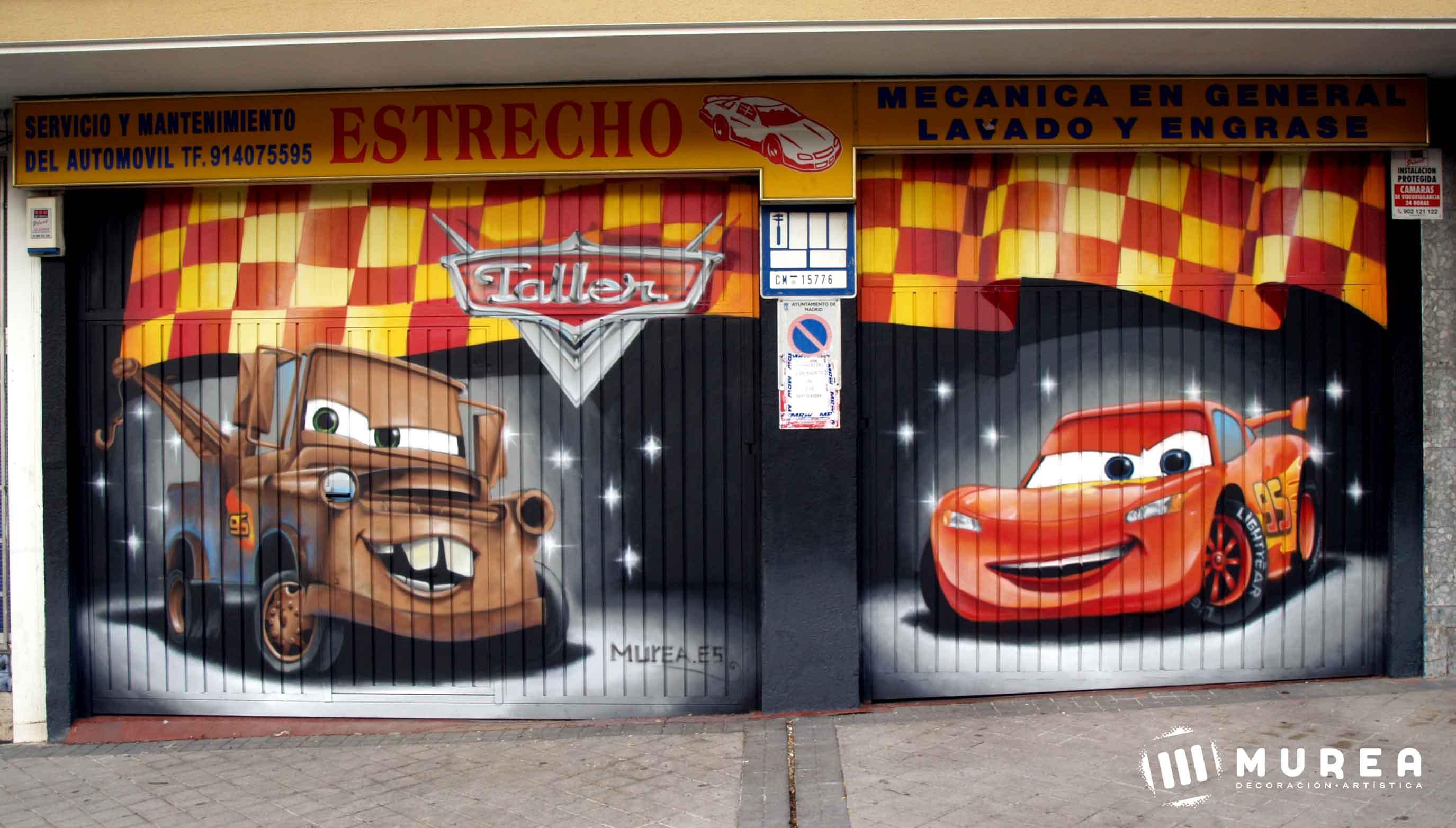 Graffiti profesional para fachadas y cierres comerciales - Fachadas de talleres ...