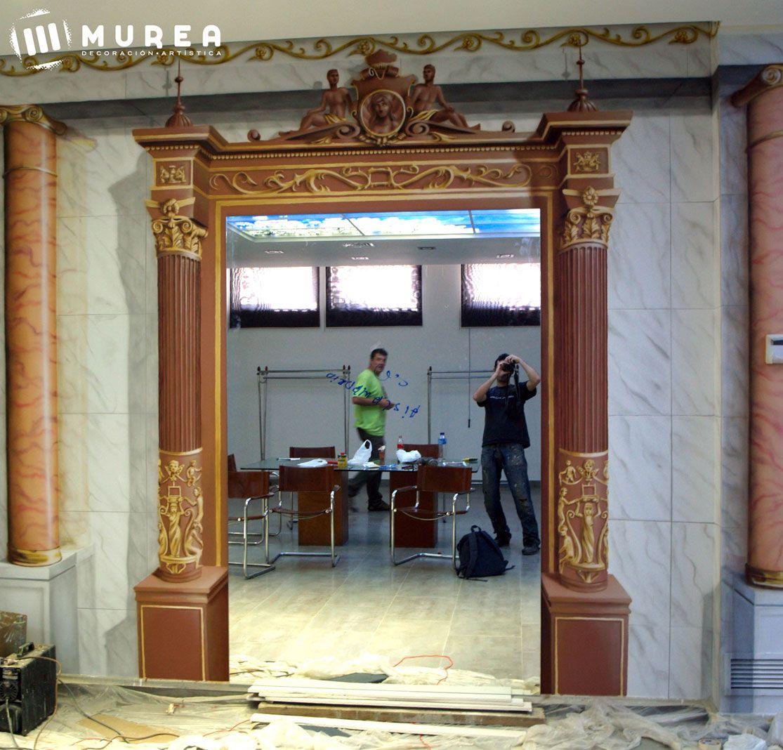 Murales decorativos y exteriores pintados a mano Murales decorativos para exteriores
