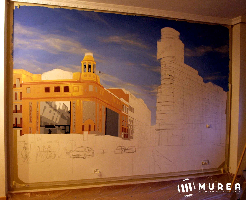 "Primera parte del mural ""plaza de Callao"""