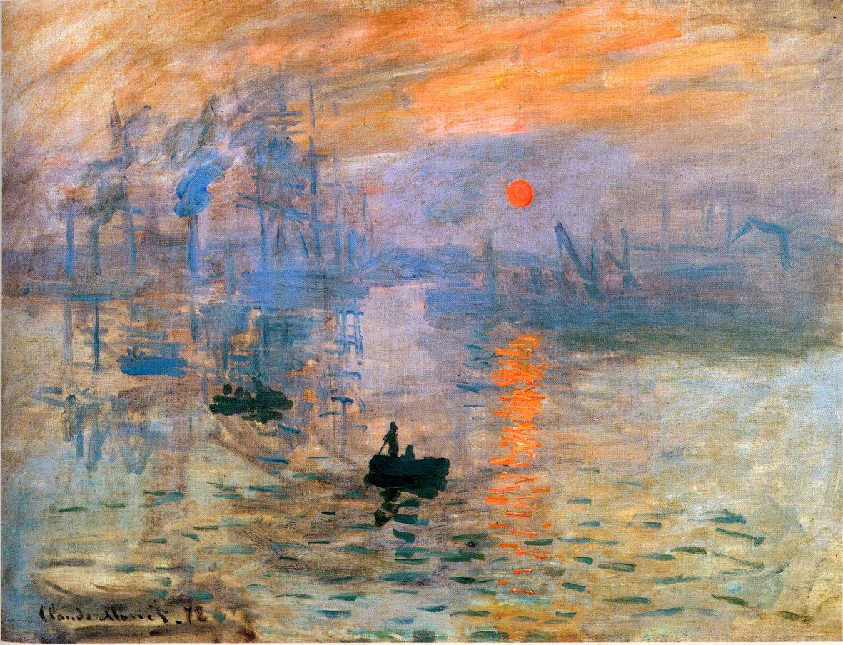 "Monet, ""Impresion, sol naciente"" 1873."