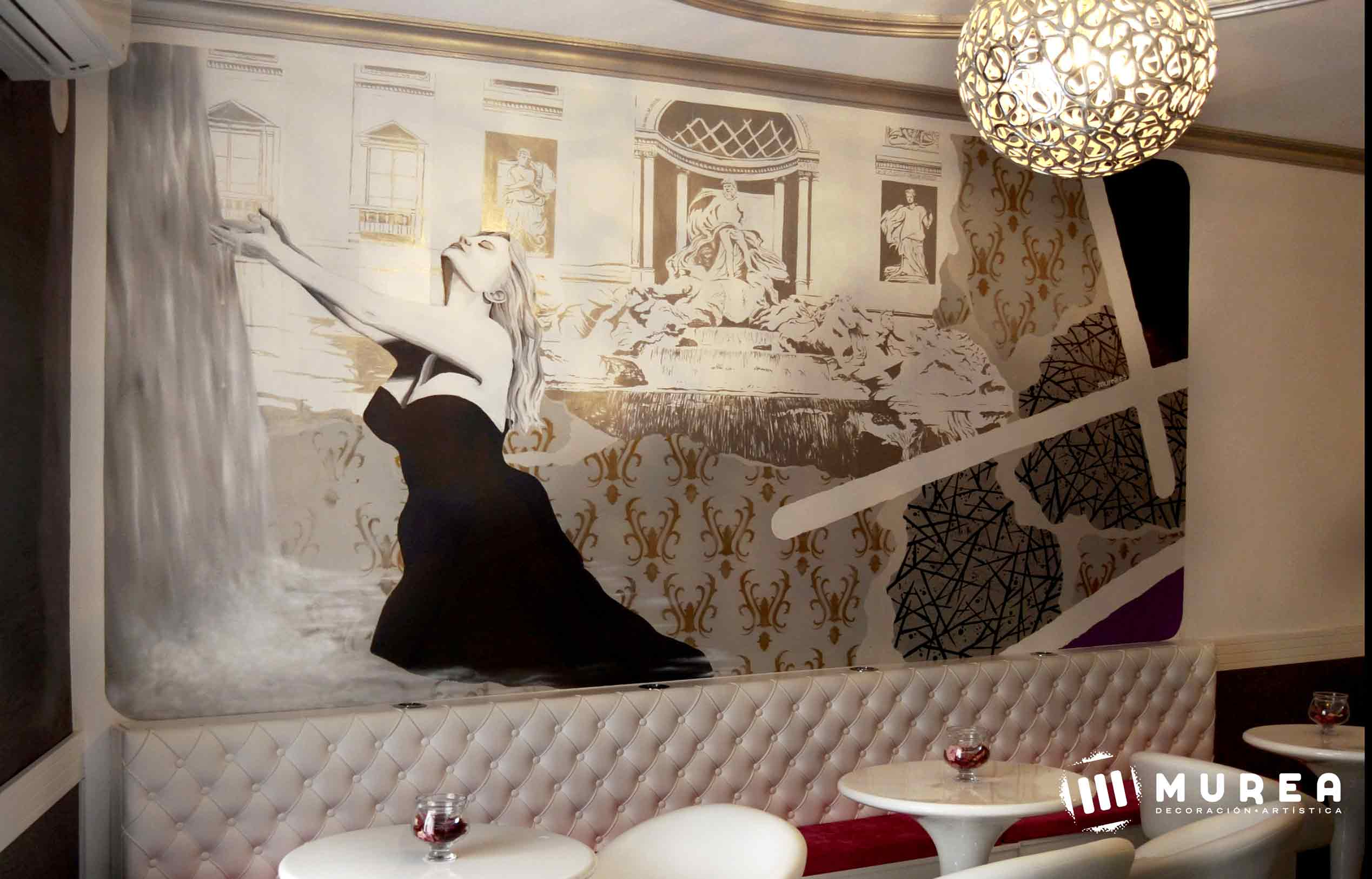 """Como se hizo: Mural """"La dolce vitta"""""""
