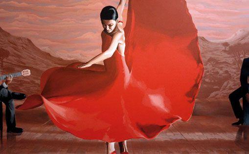 Cuadro para tablao flamenco. Arcos de la Frontera, 2013.