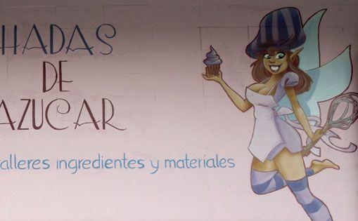 Mural para Hadas de azucar.