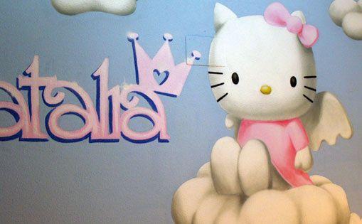 "Mural para particular ""Hello kitty"""