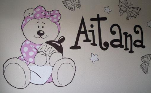 "Mural para particular ""Oso Aitana"""