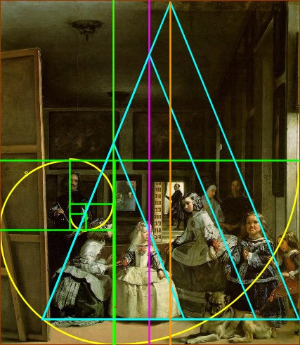 Proporción áurea en las Meninas de Velázquez.