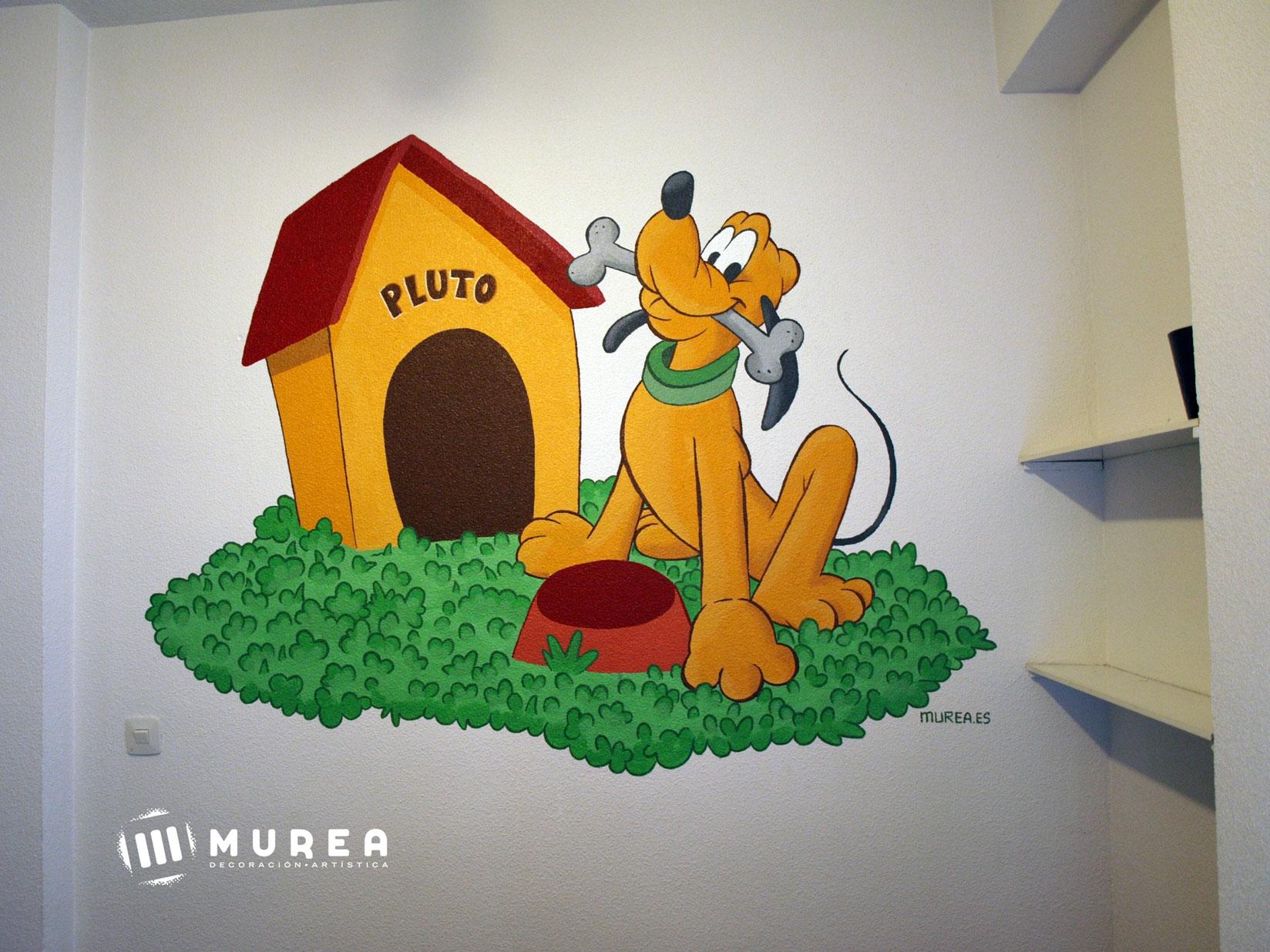 "Mural para particular ""Pluto"" Madrid 2015."
