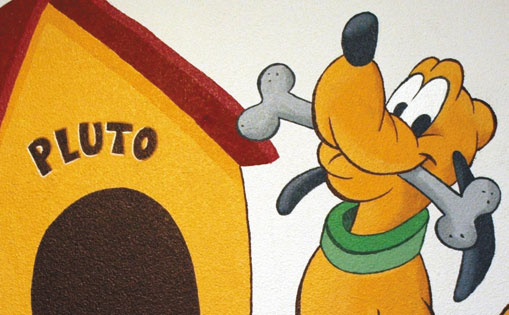 "Mural infantil para particular ""Pluto"" Madrid 2015."