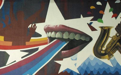 """Mural decorativo para la """"Risueña"""" Alcobendas 2015."""