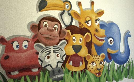 "Mural infantil para particular ""Animales"". Madrid 2016."