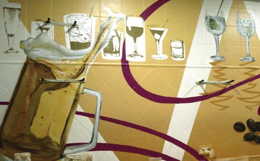 "Mural interior para Restaurante ""La flechita"" Madrid 2016"