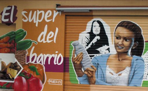 Mural para supermercado