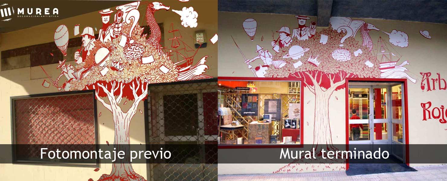 Fotomontaje para realización de mural. Murea.es