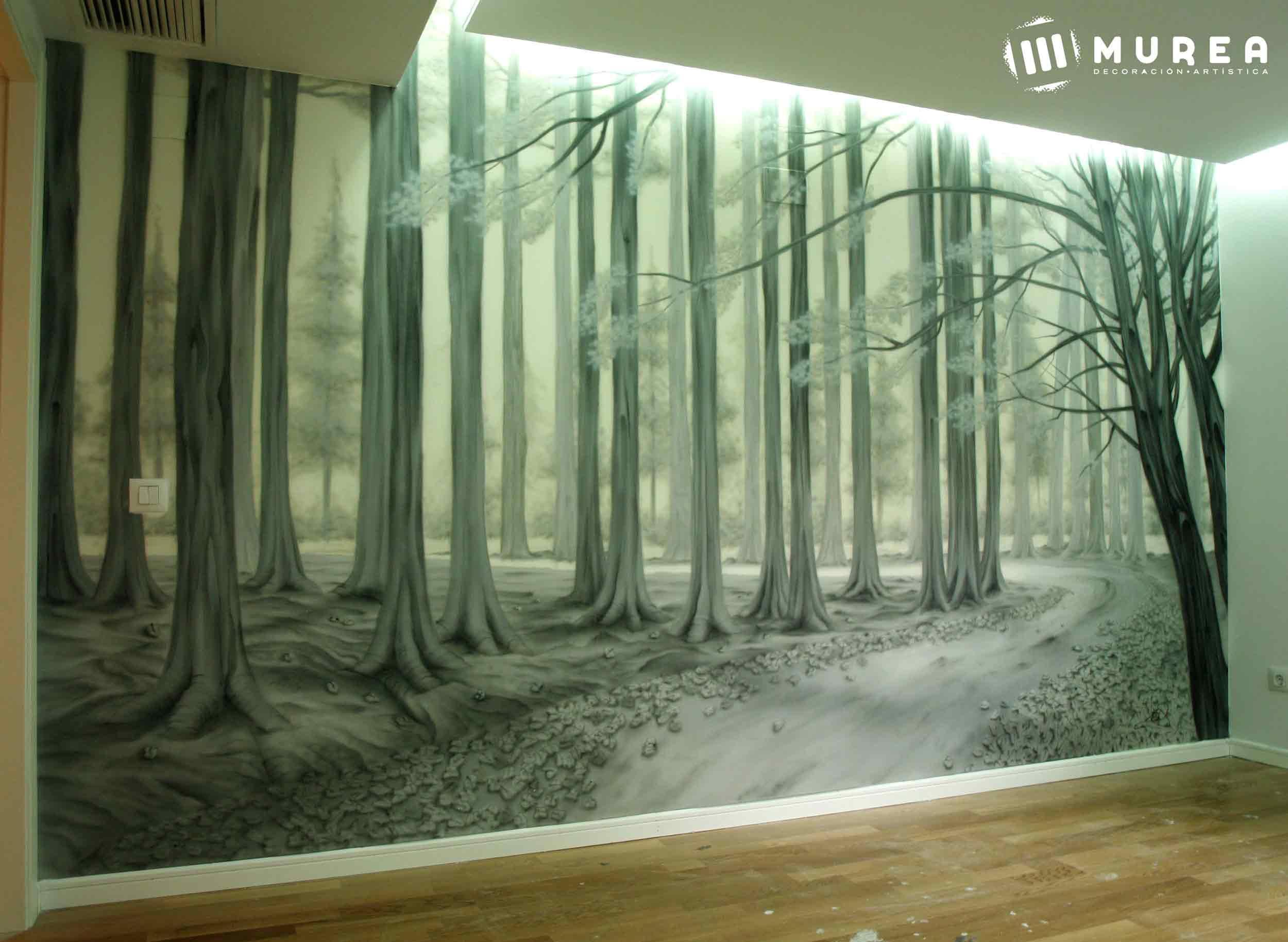 mural para particular: bosque