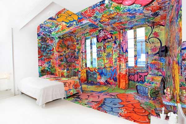 Graffiti sala blanca