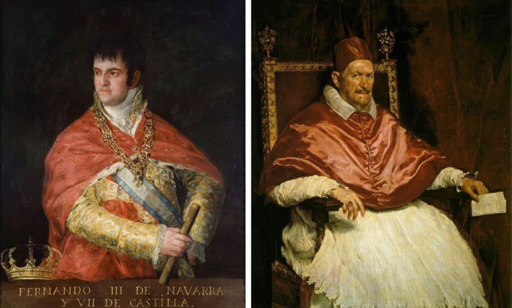 Cuadros de Velazquez: Inocencio X y Fernando III