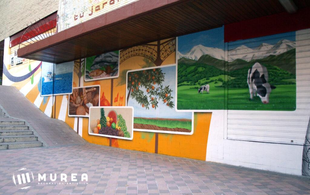 Mural realizado para mercado Santa Eugenia