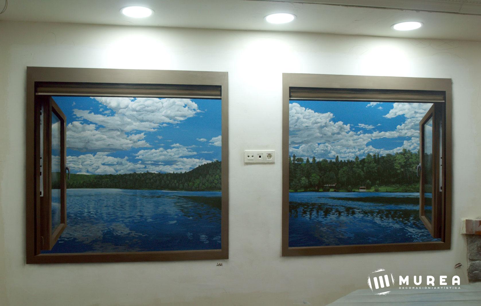 """Mural para particular, """"Ventanas"""". La Cabrera 2015"""