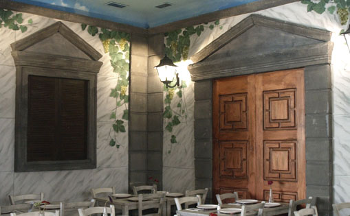 Mural realizado para restaurante
