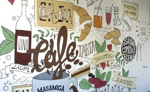Mural realizado para cafeteria