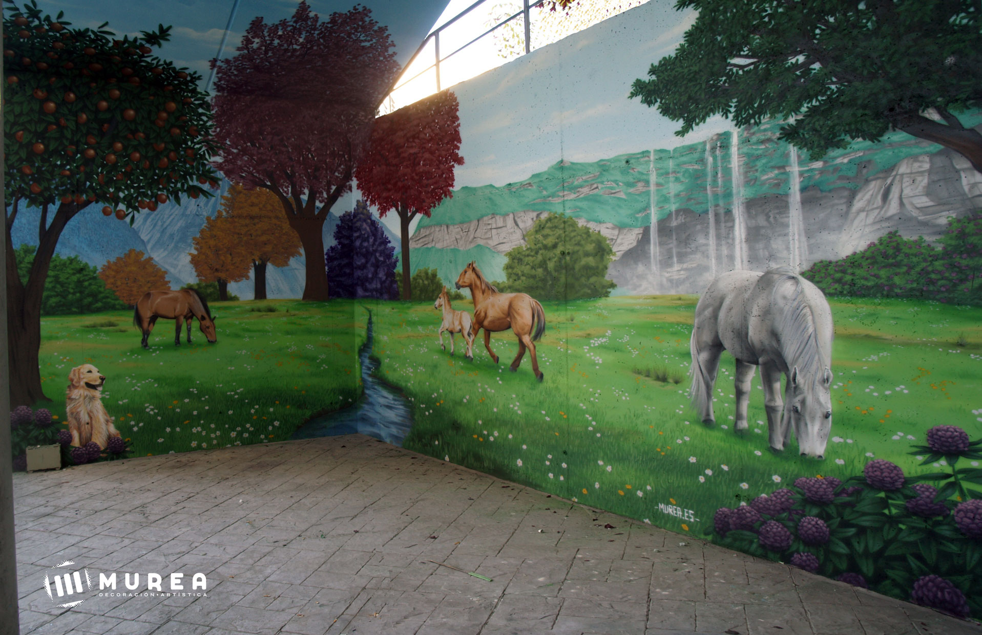 "Mural realizado para ""Clínica ecoplar"" Madrid 2016."
