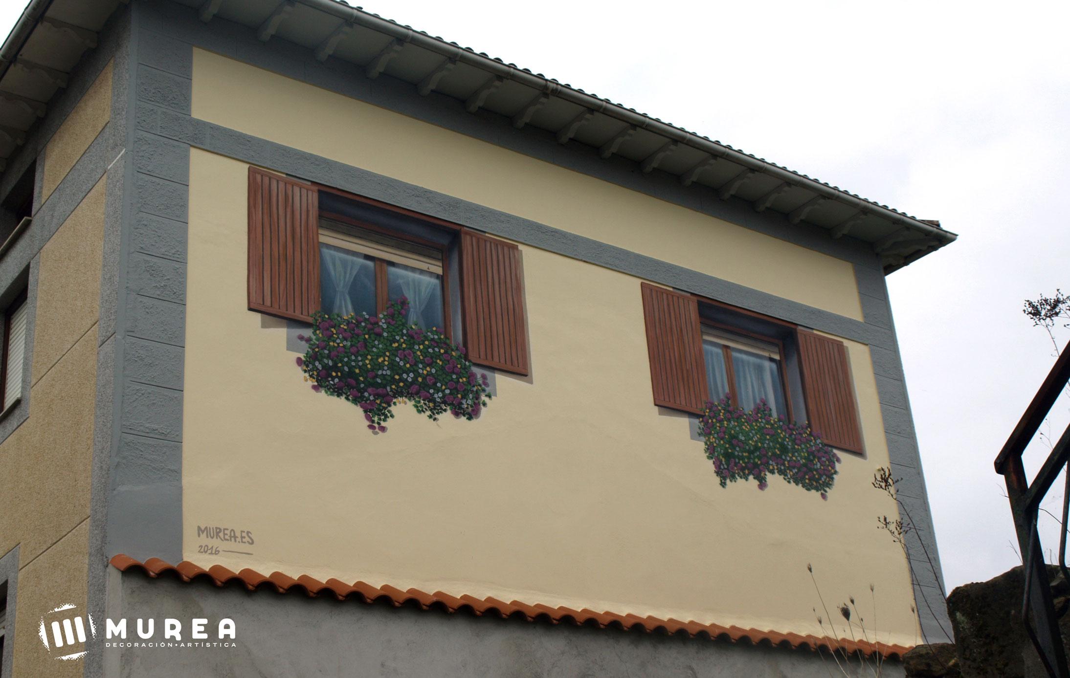 Mural trampantojo realizado para particular. Cantabria 2016