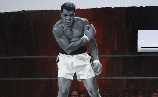 Mural para gimnasio de boxeo,