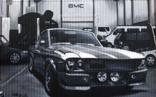 Puerta metálica para taller BMC. Becerril de la sierra. 2017