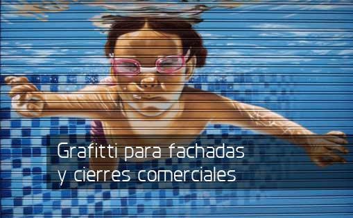 Grafiti para fachadas y cierres comerciales