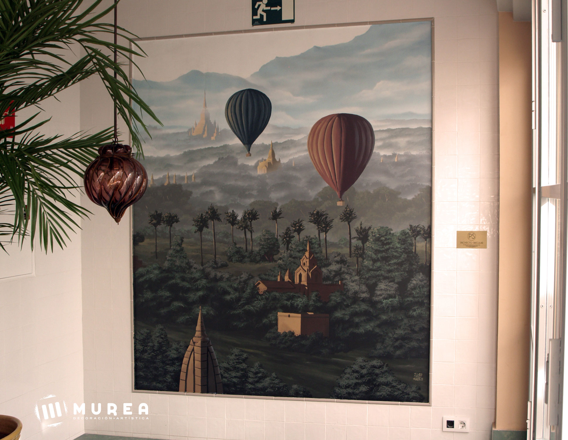 "Mural para restaurante ""Bengala"" Madrid 2018."