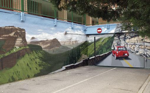 Mural realizado para comunidad de vecinos. Rivas 2018.