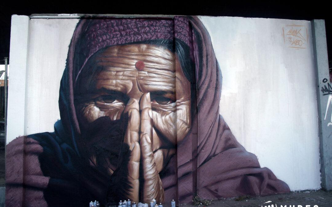 """Mural """"Namasté"""""""