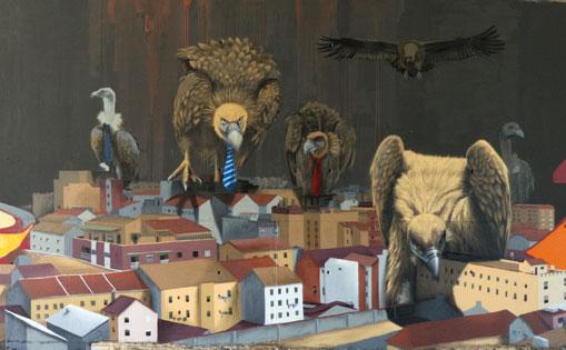 Mural realizado por libre