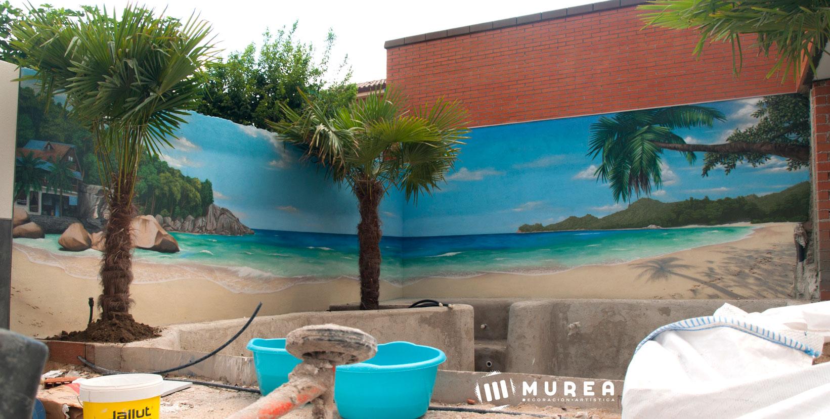 """""""Seychelles"""" Mural para particular. Mejorada del campo 2018."""