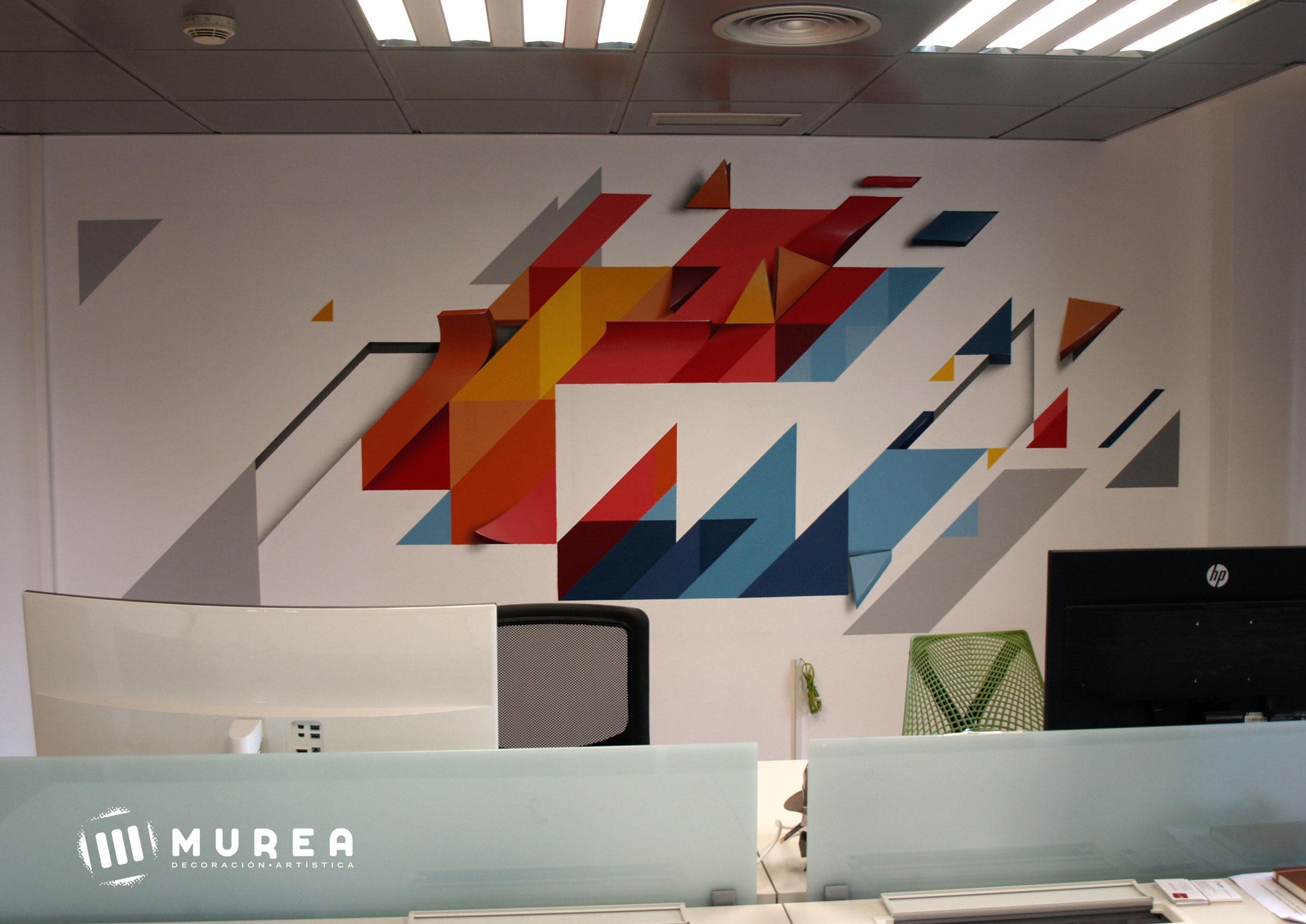 "Mural por encargo para ""Machiina"" .Madrid 2018."