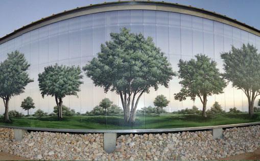 Almazara, mural realizado junto a los artistas Dms y Sea 162. Ronda 2018.