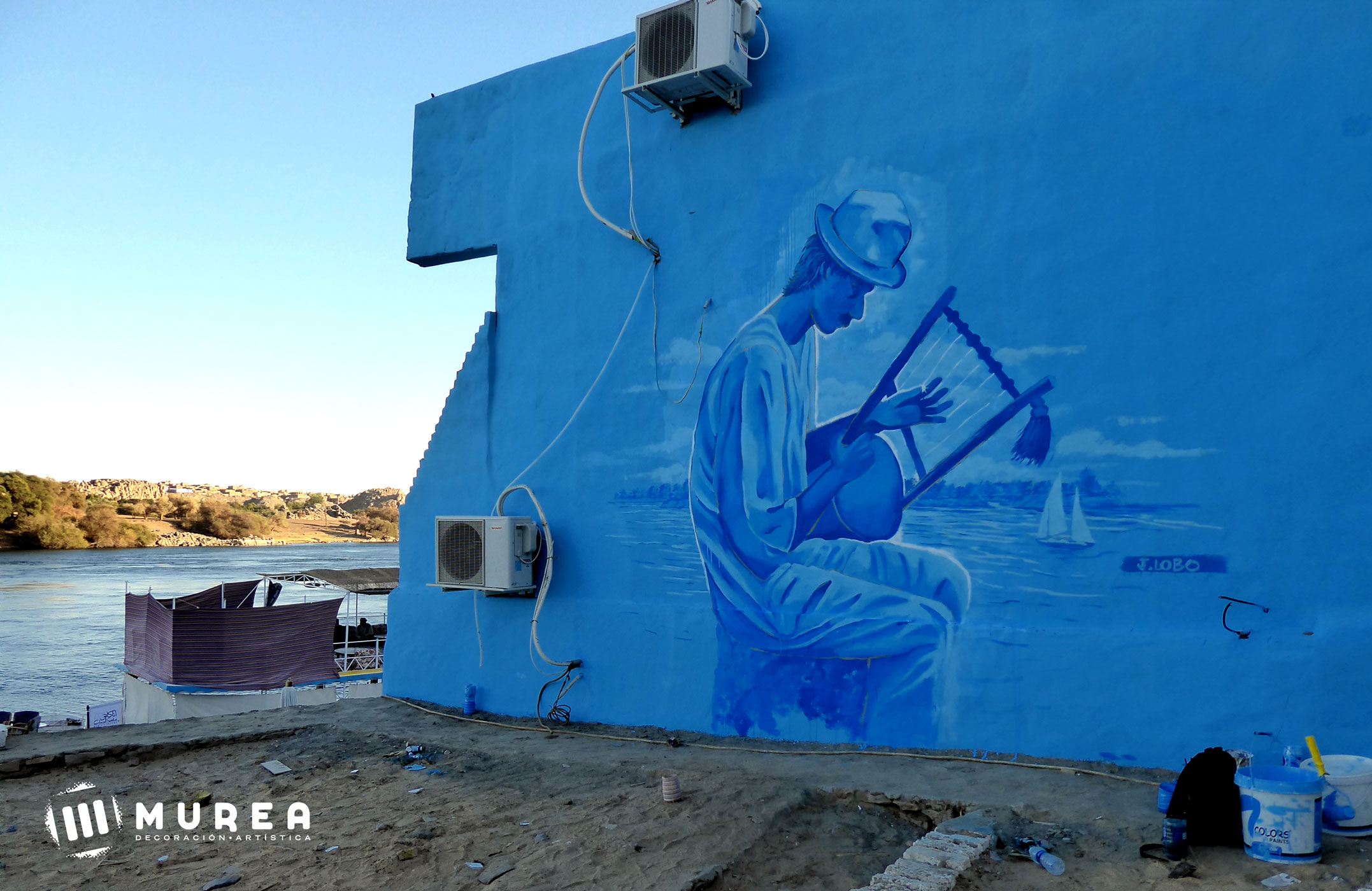 Músico Nubio. Nubian village. Egipto 2019.