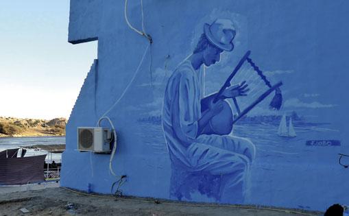 Músico Nubio. En el pueblo Nubian village. Egipto 2019.