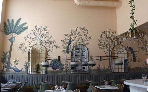 Mural realizado para el restaurante