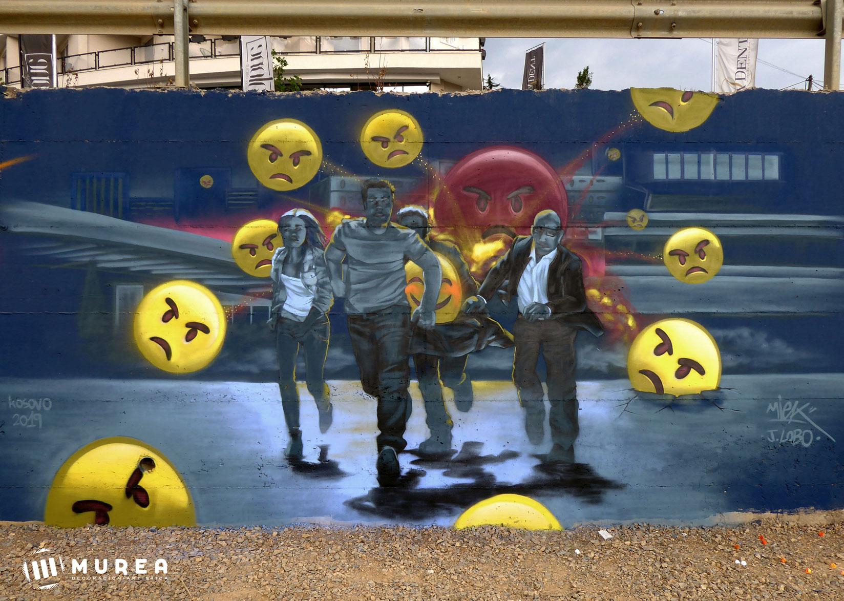 "Mural para el festival ""Meeting of styles"" Kosovo 2019."