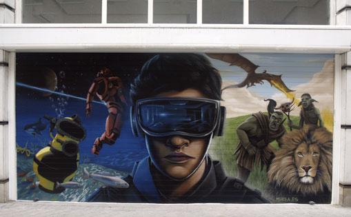 Mural realizado para gimnasio