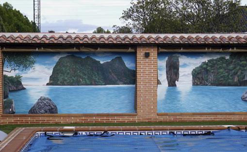 Mural decorativo para restaurante